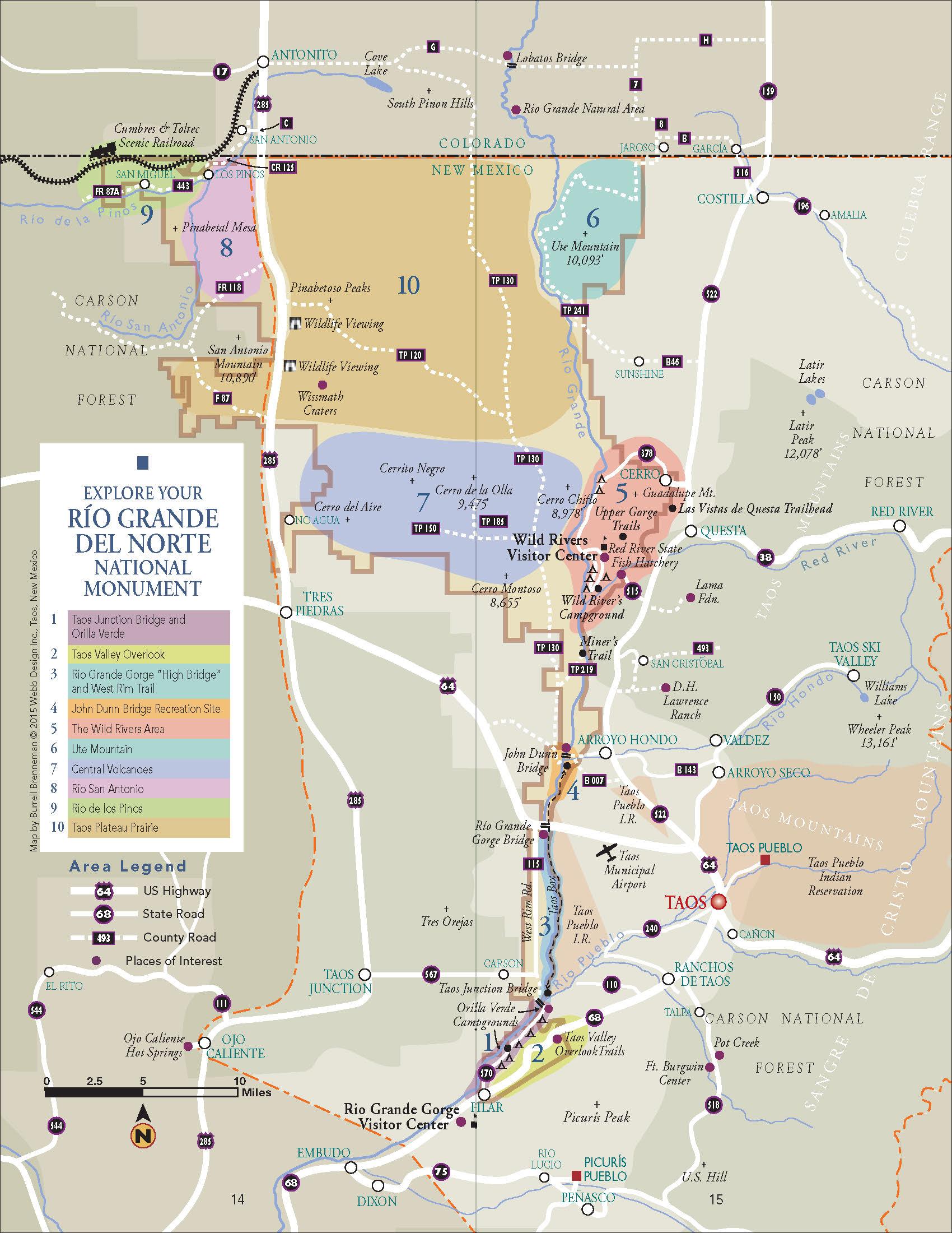 New Guide To The Rio Grande Del Norte National Monument - World map rio grande river