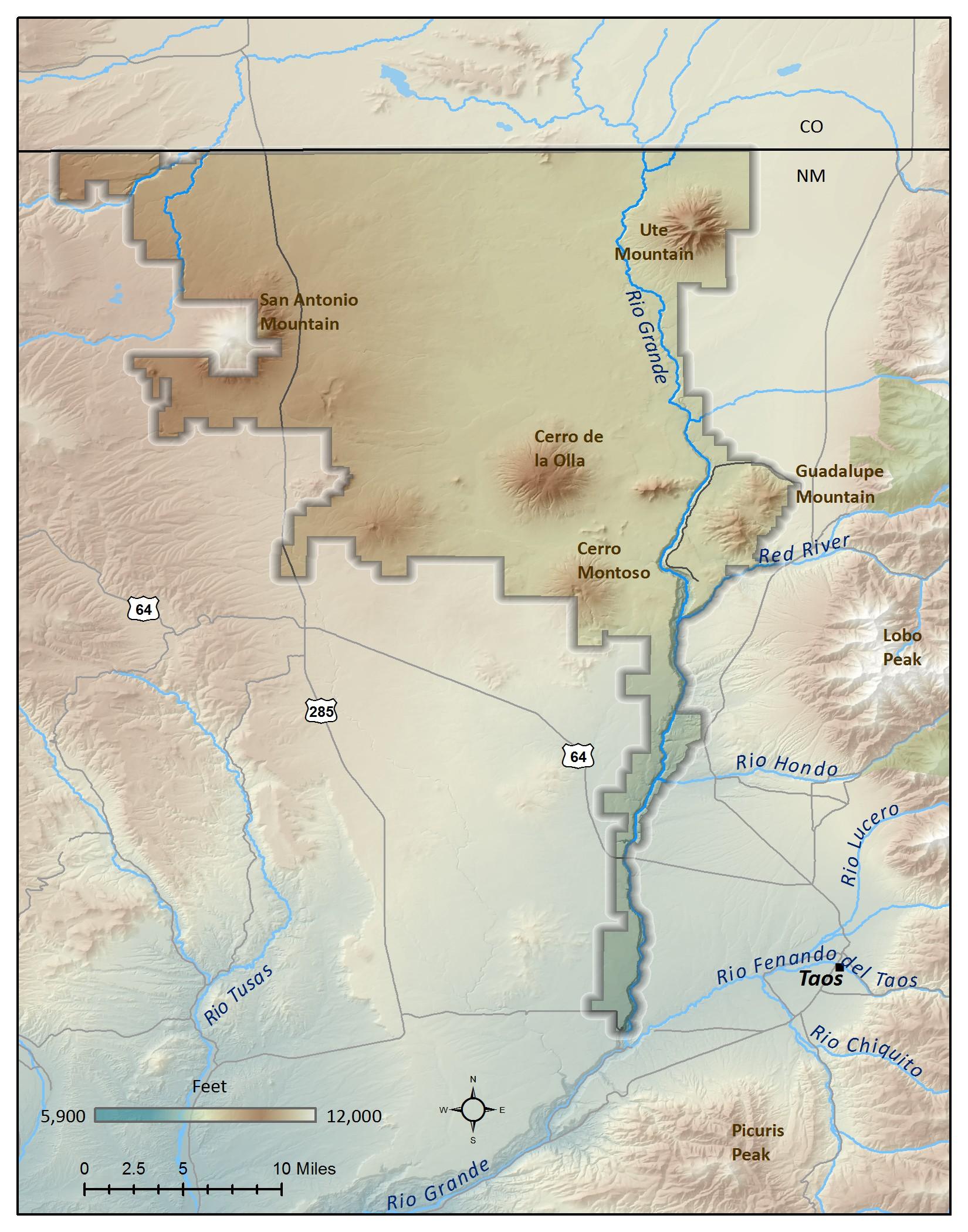 El Rio Grande Del Norte Map - Us map rio grande