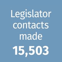 Legislator contacts made - 15,503