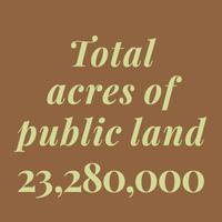 Total acres of public land - 23,280,000