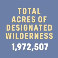 Total acres of designated wilderness - 1,972,507