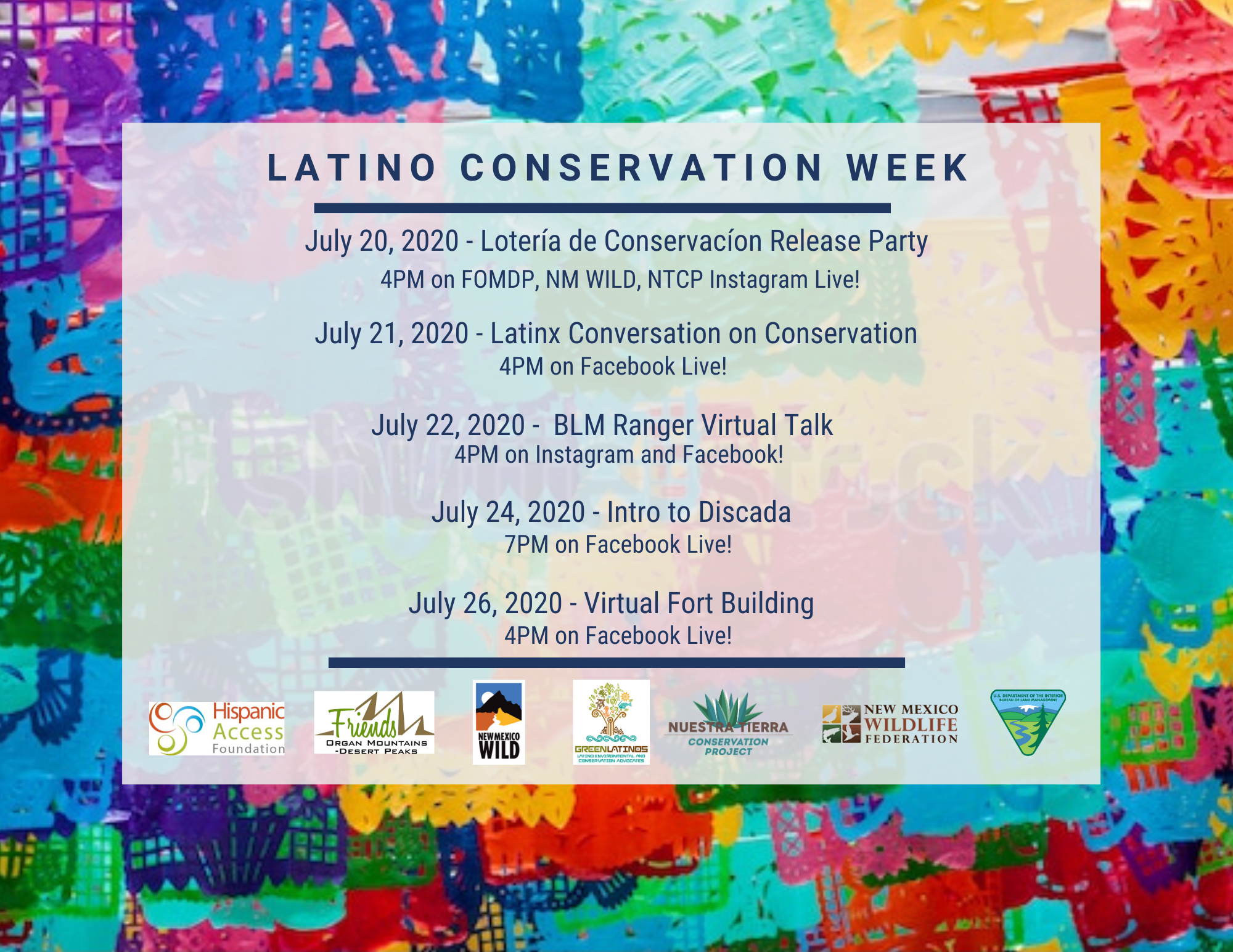 Local conservation organizations celebrate Latino Conservation Week in New Mexico virtually, July 18-26