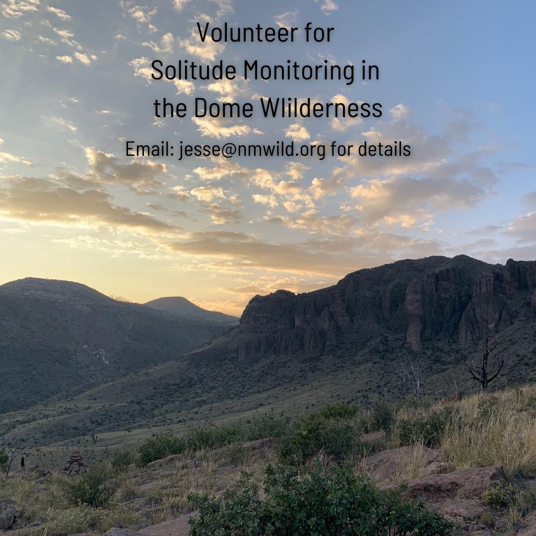 Solitude Monitoring in Dome Wilderness