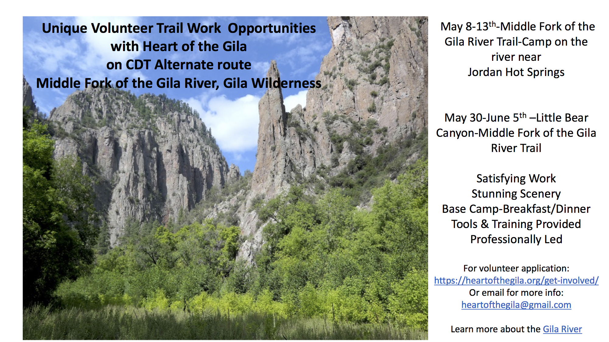 Trail Work Opportunities on CDT Alternate Route